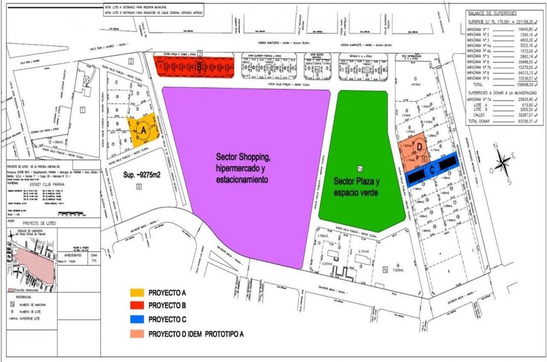 El plano del exhipódromo