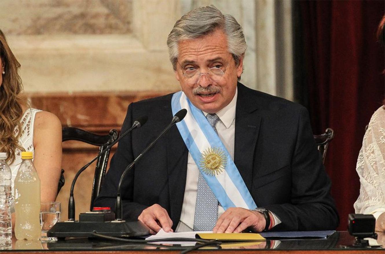 Alberto Fernández prepara su discurso de apertura de las sesiones ordinarias del Congreso.