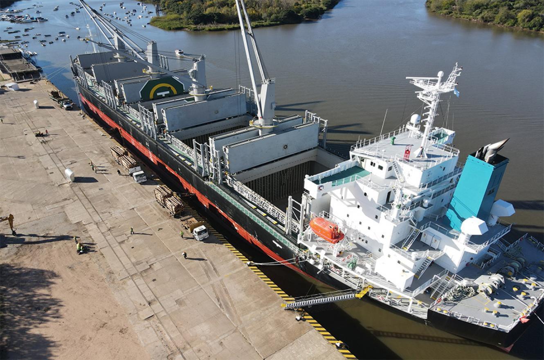 Se dinamizan los puertos entrerrianos, fortaleciendo las exportaciones de la provincia.