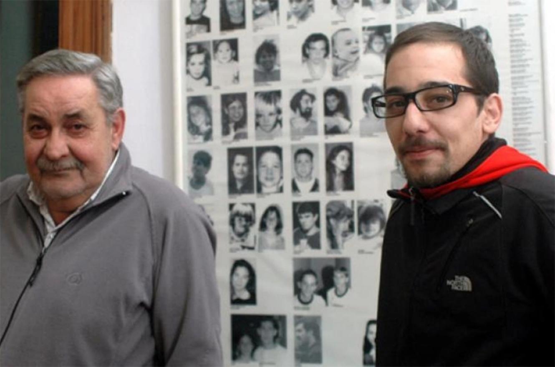 Francisco con su padre, poco después de haber recuperado su identidad.