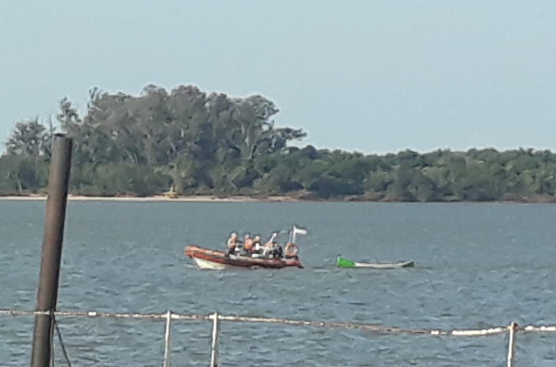 rescate en el río Uruguay