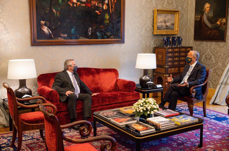El Presidente Alberto Fernández se reunió con su par de Portugal, Marcelo Rebelo de Sousa.