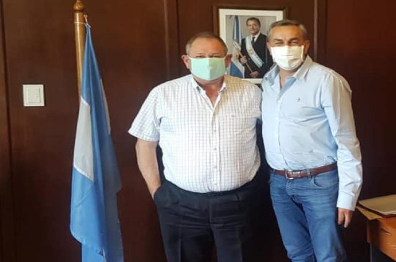 Fabián Rogel con Enrique Vaquié