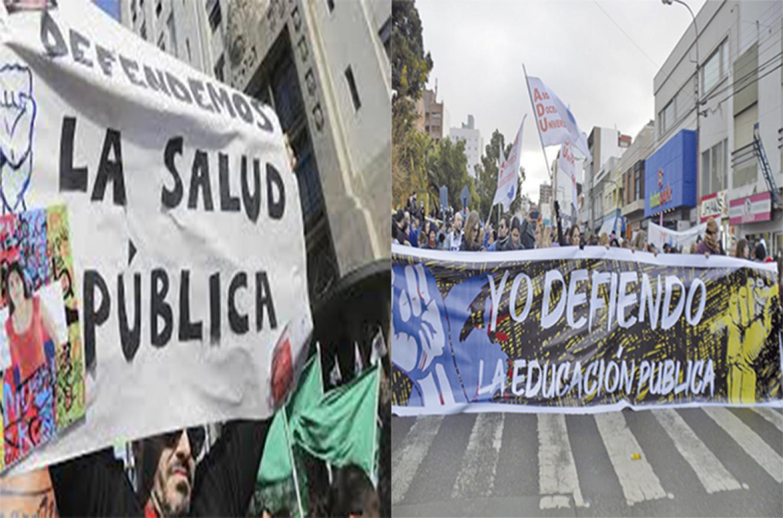 reclamos salud y educación públicas