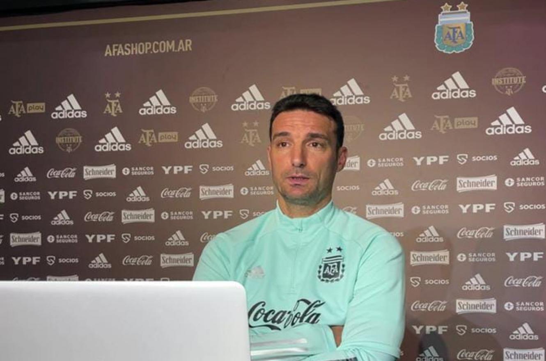 """Lionel Scaloni: """"Estos jugadores son la representación de los hinchas en la cancha"""""""