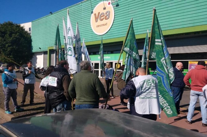 Supermercado Vea protesta