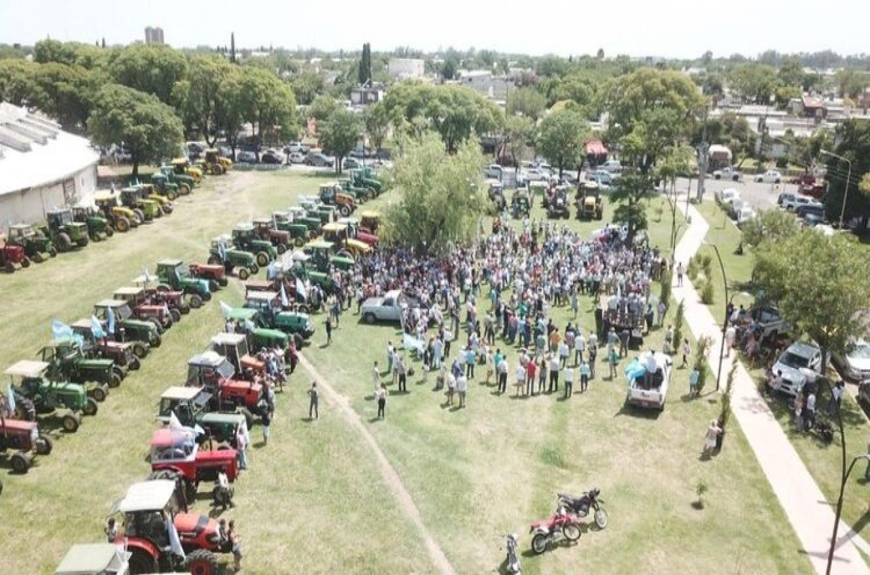 tractorazo en Pergamino
