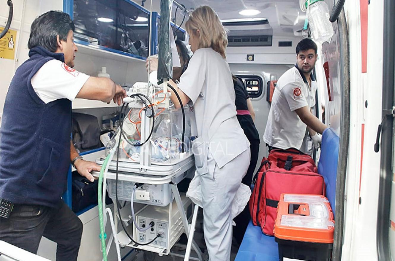traslado de pacientes al nuevo hospital Iturraspe