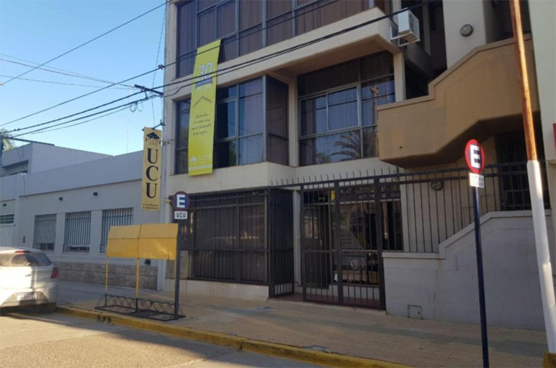 Frente de la sede de la UCU en Gualeguaychú.