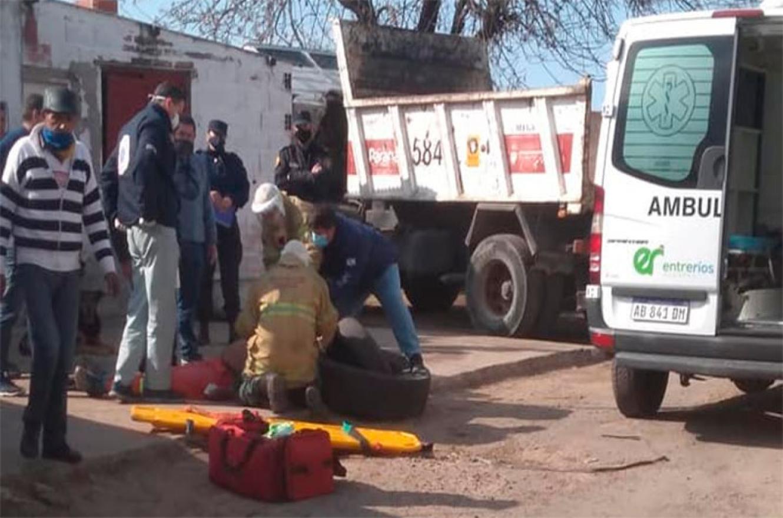 accidente laboral Unidad Municipal 3