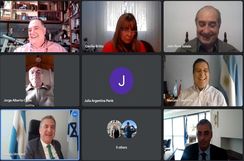 El embajador argentino en Israel, Sergio Urribarri, expuso de manera virtual ante los legisladores del oficialismo que integran la Comisión de Relaciones Exteriores de la Cámara de Diputados y el Parlasur.