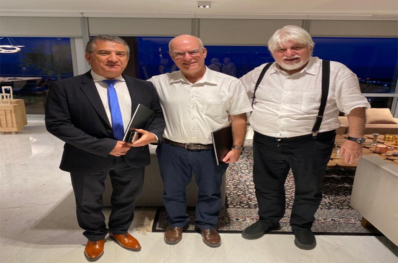 Sergio Urribarri, Ariel Porat y Adrián Werthein.