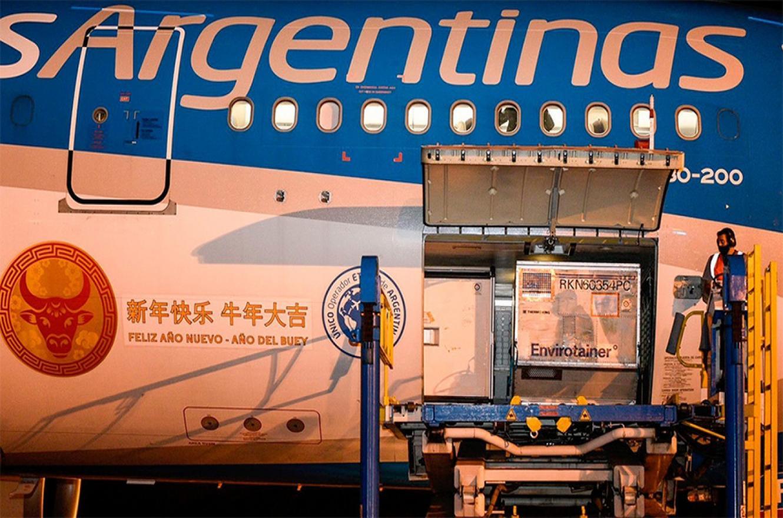 Con estas entregas, la Argentina superó los 57 millones de dosis recibidas.
