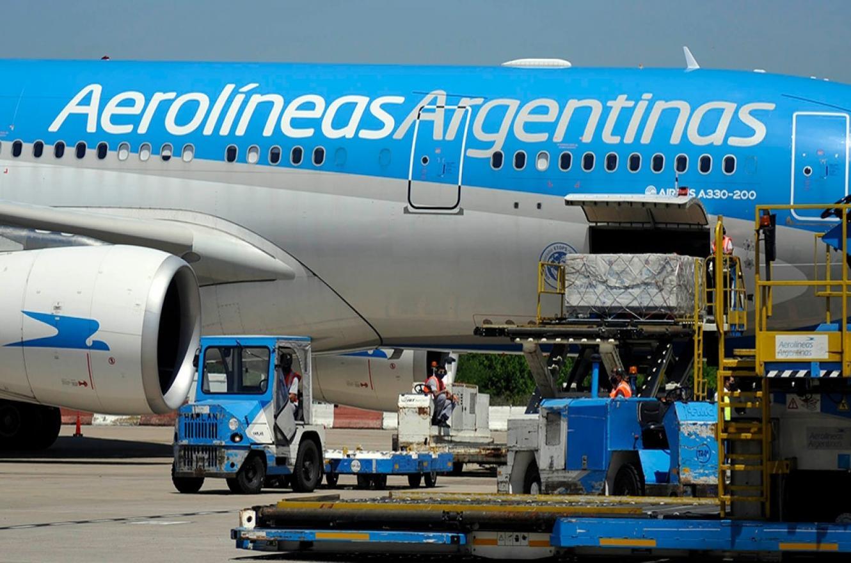 avión Aerolíneas vacunas