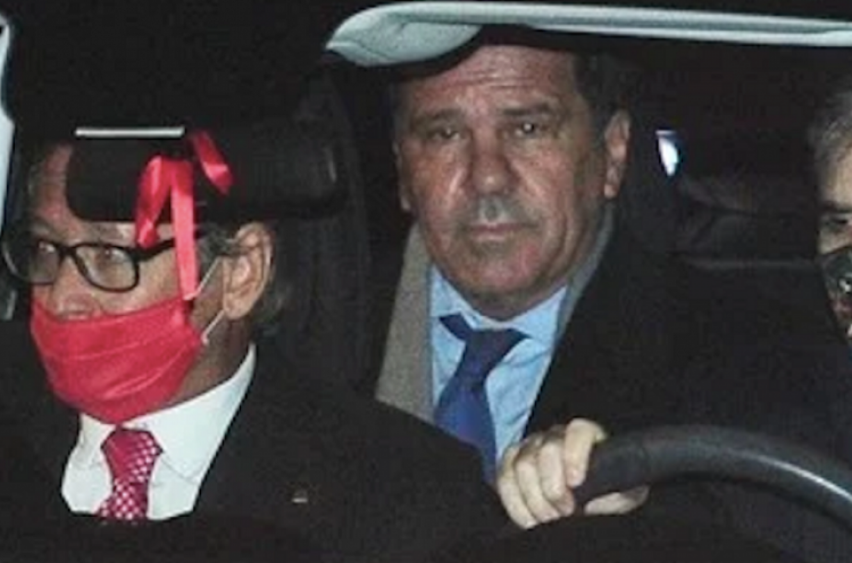 Sergio Nardelli al salir de la reunión con Alberto Fernández