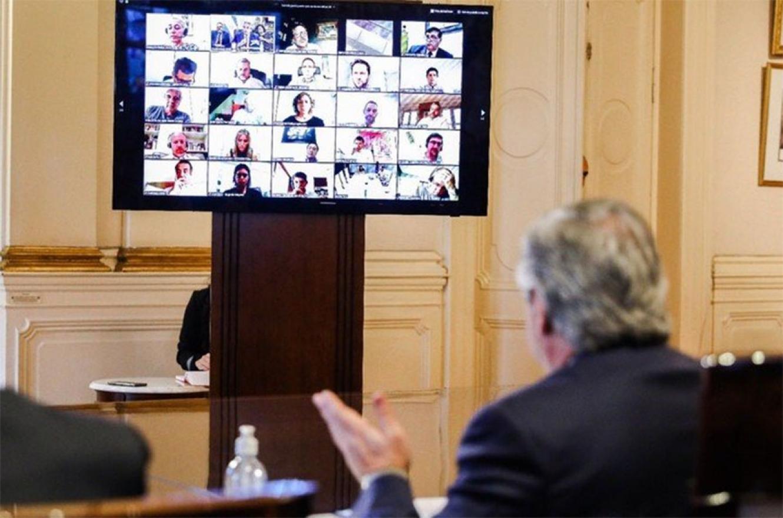 Alberto Fernández, en una videoconferencia en marzo pasado.