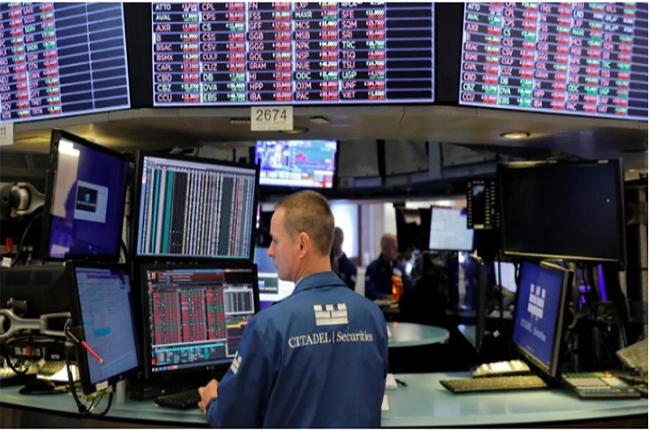 El New York Stock Exchange (NYSE) en Wall Street