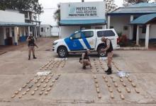Prefectura secuestró más de 130 kilos de marihuana en la costa del río Paraná