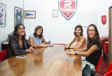 La responsable de la Liga Femenina de Básquet visitó las instalaciones de Rocamora