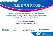 Convocatoria producción de contenidos humorísticos para radio