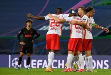 Leipzig sorprendió al Atlético Madrid de Simeone y avanzó a semifinales
