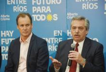 Alberto Fernández y Gustavo Bordet