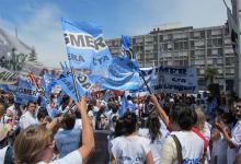 Imagen de archivo de una movilización del gremio docente Agmer.