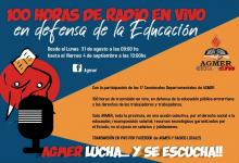 protesta AGMER radio en vivo