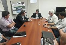 Reunión donde analizó el anteproyecto para la ampliación de la Planta Potabilizadora Echeverría de Paraná.