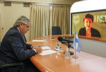 El presidente Fernández dialogó con la titular del FMI