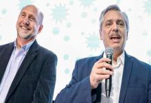 Alberto Fernández y Omar Perotti
