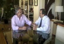 Alberto Fernández junto Ricardo Alfonsín.