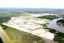 Imagen aérea del controvertido barrio privado Amarras.