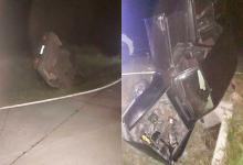 auto volcado alcantarilla Aldea San Antonio