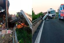 camión choque autovía 12