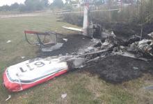 Dos personas murieron al caer una avioneta en General Rodríguez