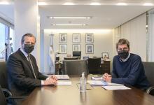 Bahl se reunió con el ministro Lammens