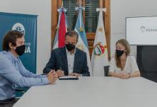 Bahl firma contrato puente Manuel Gálvez