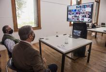 Adán Bahl reunión virtual Plan de Suelo Urbano