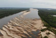 Imagen de archivo de la bajante del río Uruguay.