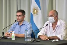 director general de Epidemiología, Diego Garcilazo y el director del hospital San Martín, Carlos Bantar