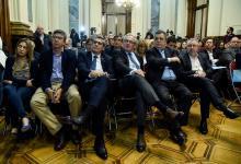 Benedetti estuvo en la presentación del proyecto de ley
