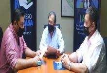 Marcelo Bisogni con Edgardo Almada