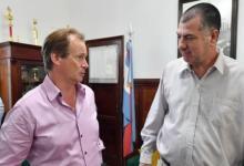 Bordet junto al padre de Micaela García