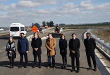 Bordet y ministros nacionales recorrieron la obra de la autovía de la Ruta Nacional N° 18