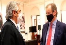 Fotografía de archivo del Presidente Alberto Fernández y del gobernador Gustavo Bordet.