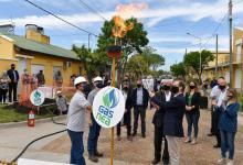 Bordet inauguró la ampliación de la red de gas en Caseros