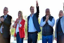 Bordet en el acto de campaña en Santa Rosa