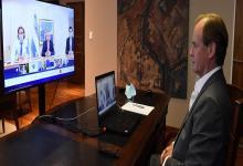 Bordet en videoconferencia con Alberto Fernández