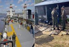 El buque detenido en La Paz transportaba marihuana: secuestraron 292 kilos